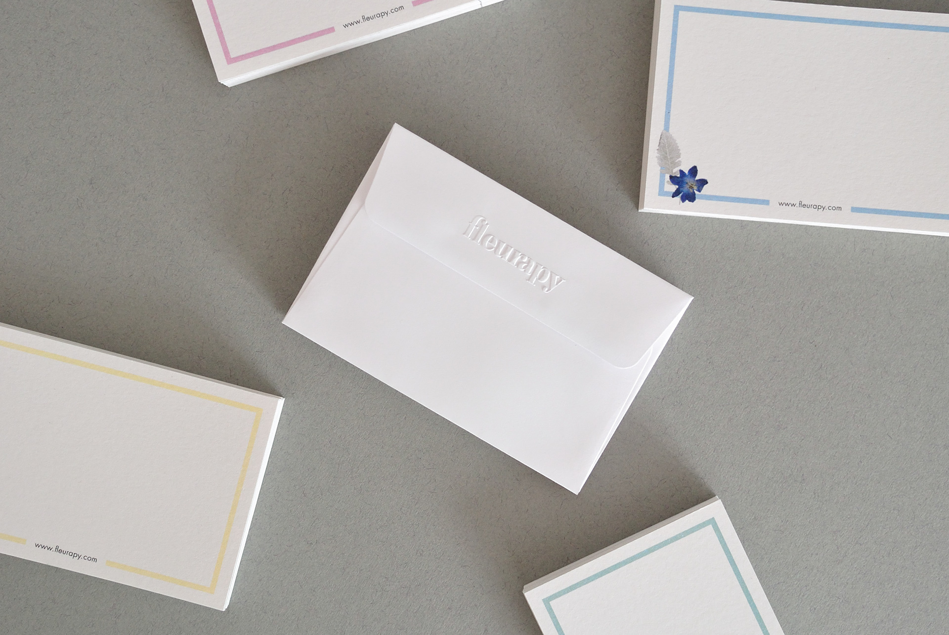 Fleurapy Stationery – Envelope & Note Cards 01