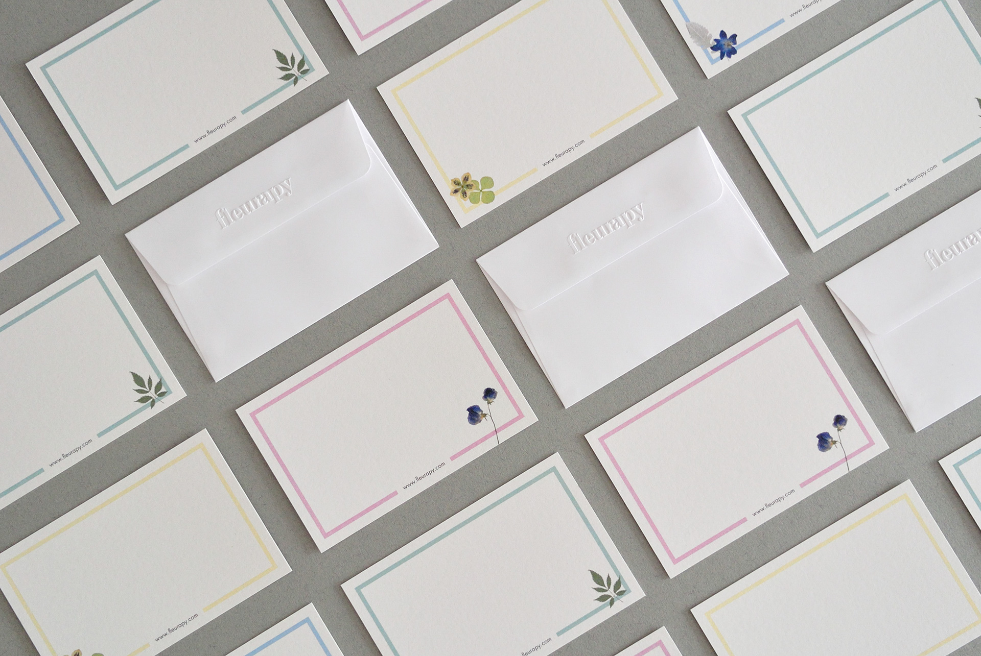 Fleurapy Stationery – Envelope & Note Cards 02
