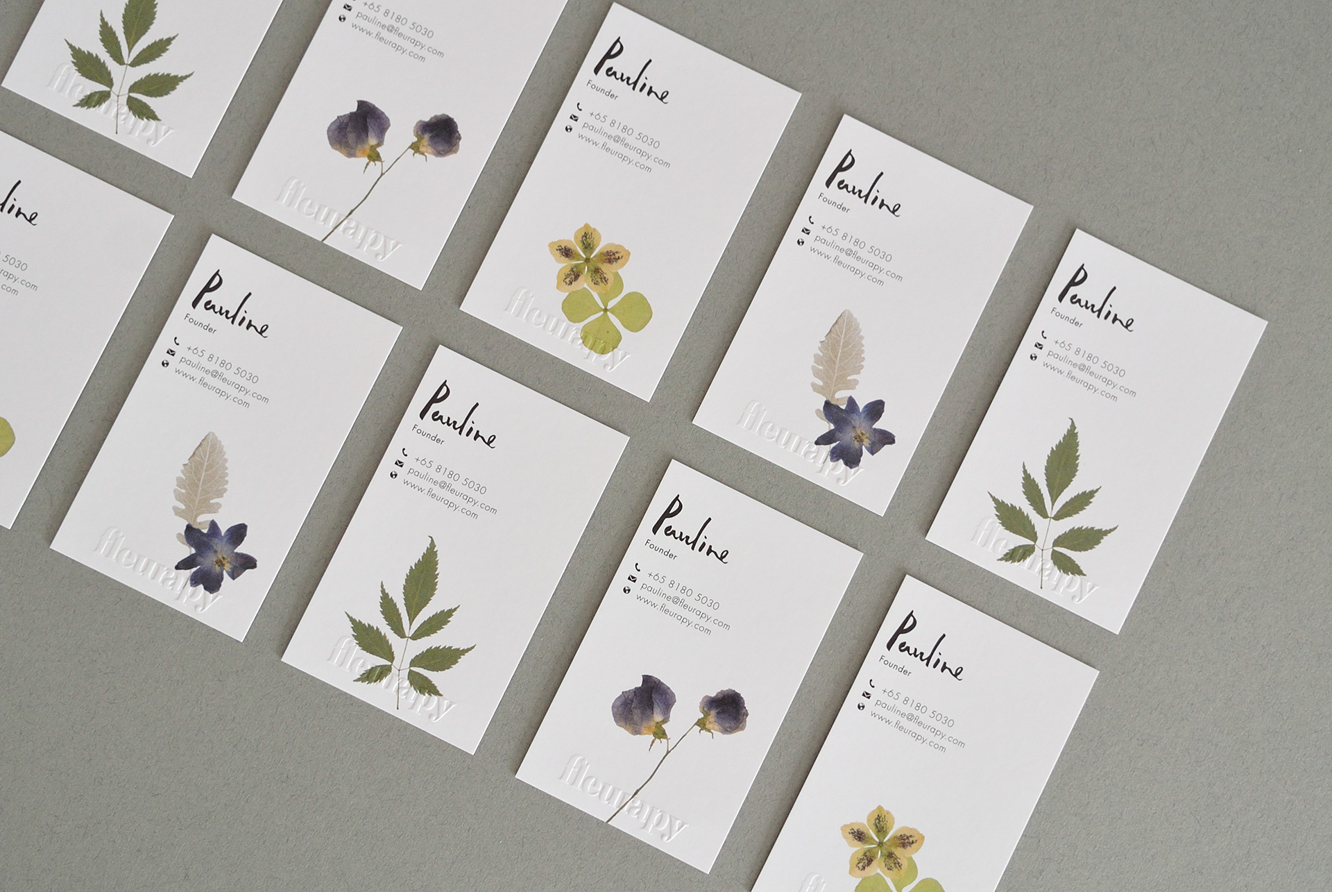 Fleurapy Stationery – Name Cards 02