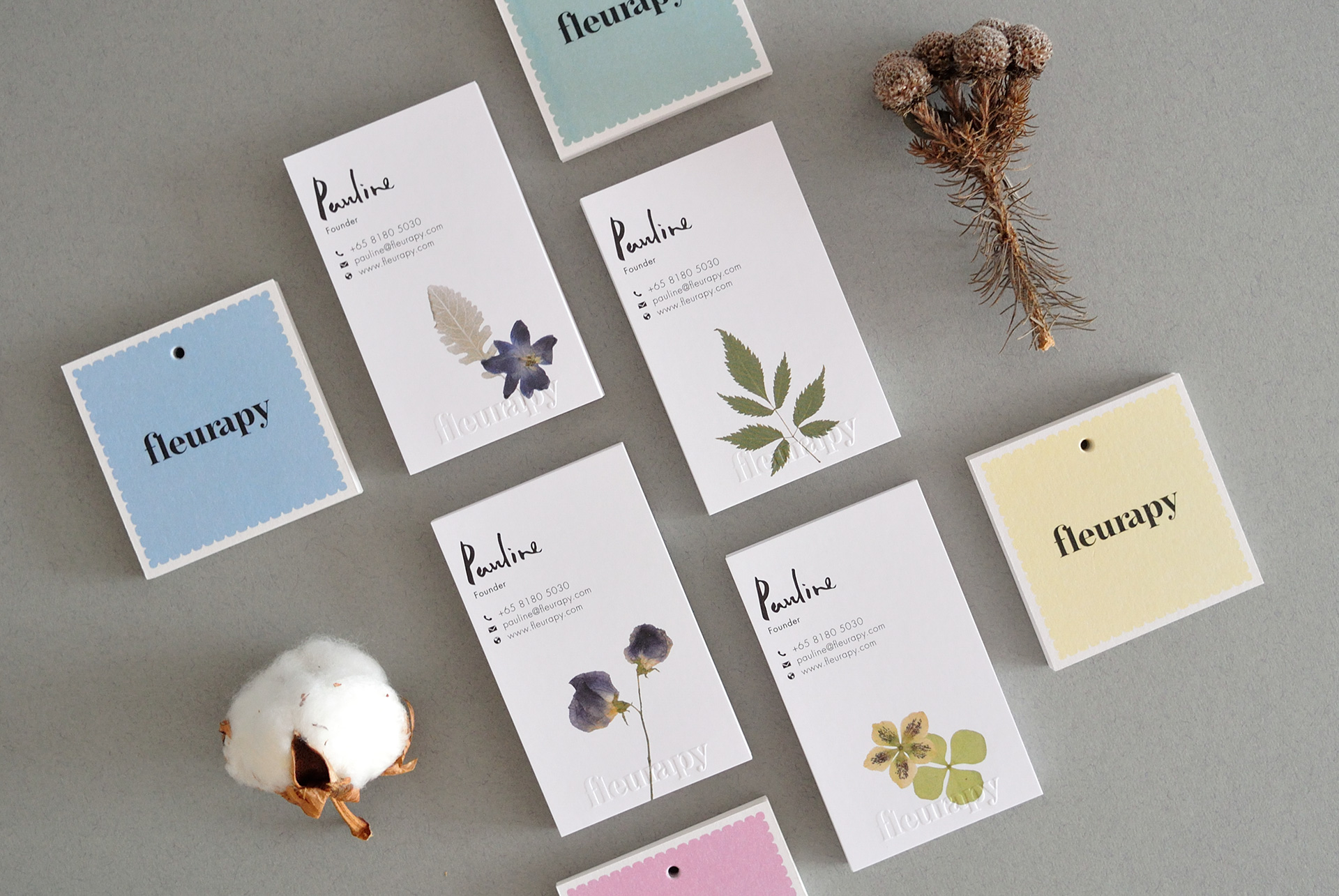 Fleurapy Stationery – Name Cards & Tags